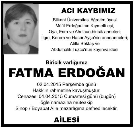 fatma erdoğan vefat