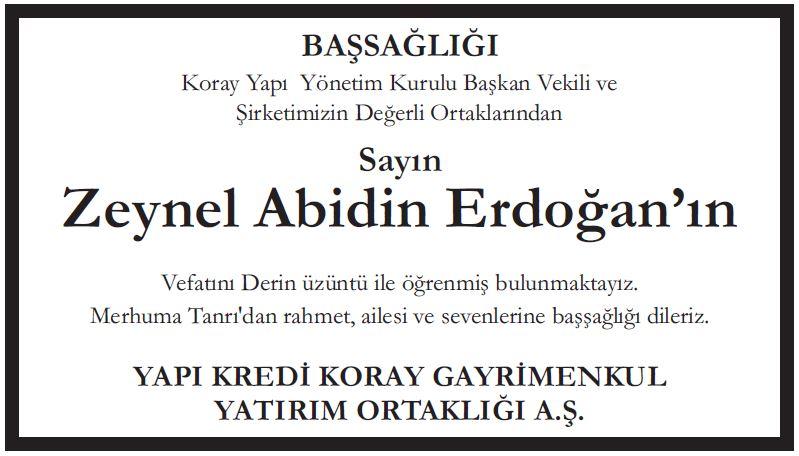 zeynel abidin erdoğan yapı kredi koray gayrimenkul yatırım ortaklığı aş
