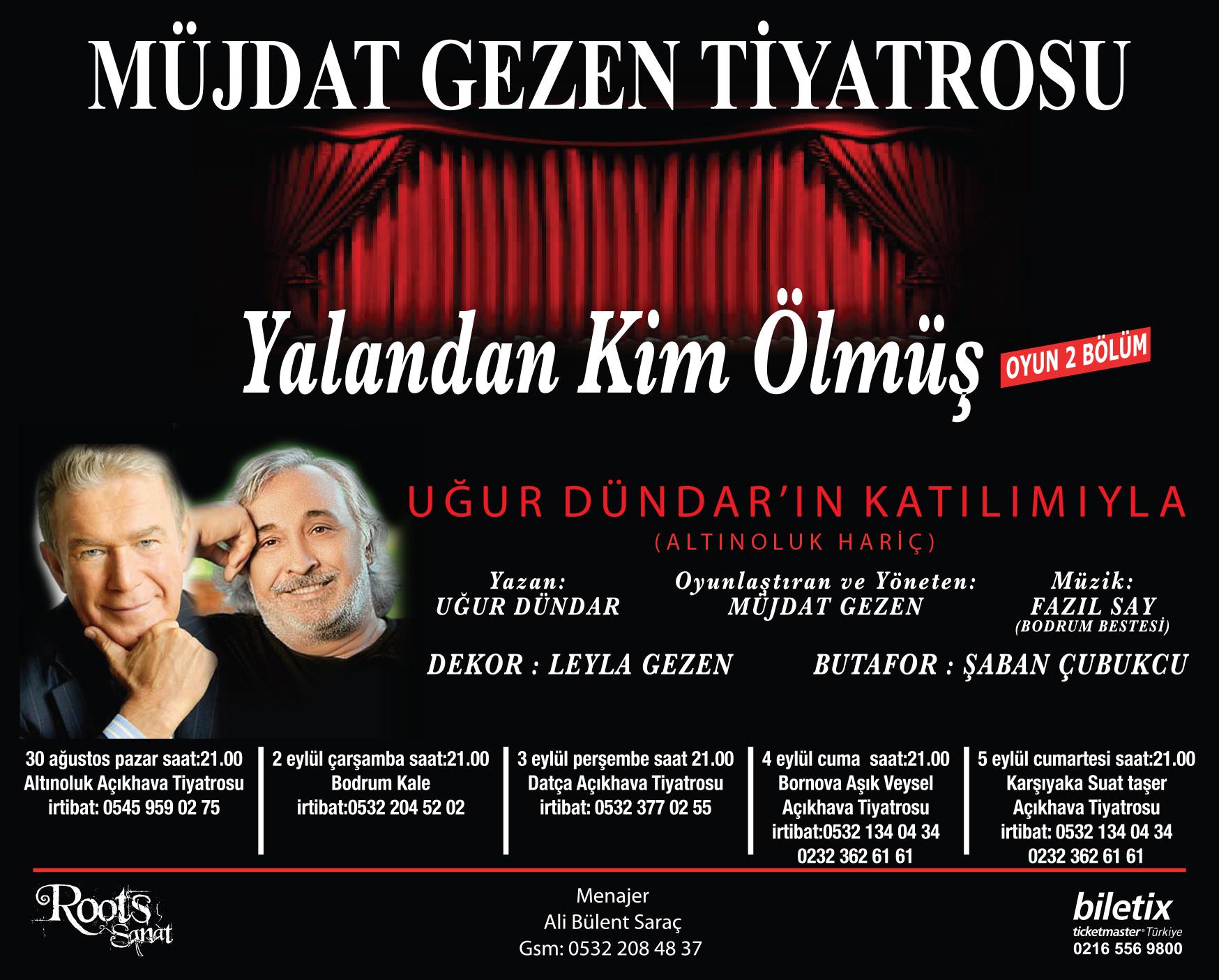 müzdat gezen tiyatrosu tanıtım ilanı